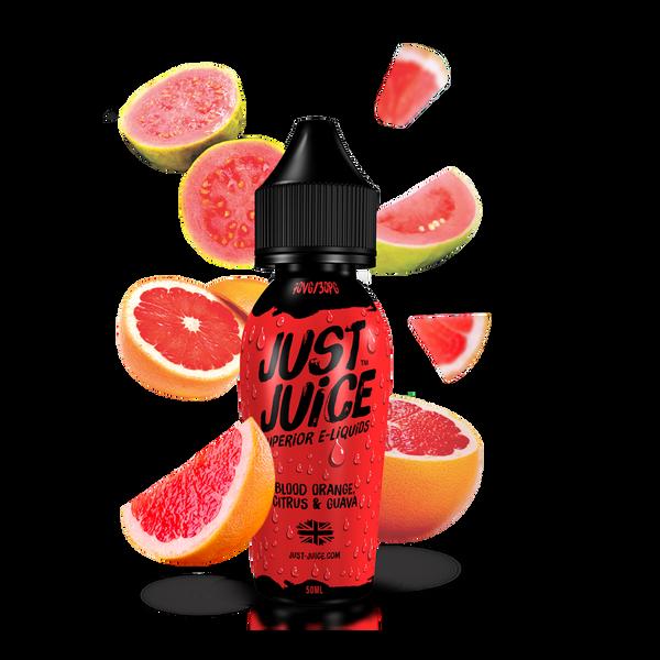 Bilde av Just Juice Blood Orange, Citrus & Guava, Ejuice