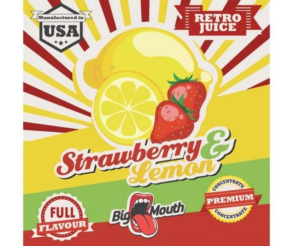 Bilde av Big Mouth Retro - Strawberry & Lemon, Konsentrat