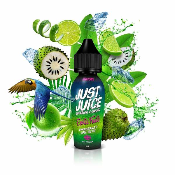 Bilde av Just Juice Guanabana Lime Ice, Ejuice 50/60ml